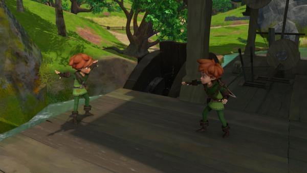 Robin Hood hat seinen Doppelgänger gestellt. | Rechte: ZDF/Method Animation/DQ Entertainment/Fabrique d'images/ZDF Enterprises/De Agostini