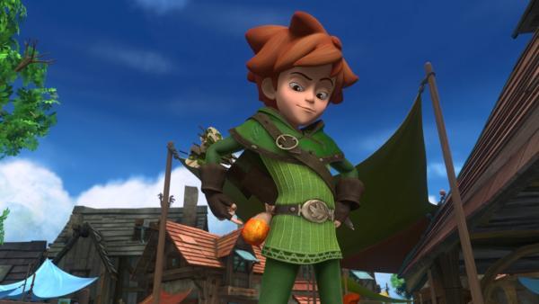Robin Hood ist stolz. Er hat es ein weiteres Mal geschafft, den Bürgern Nottinghams beizustehen. | Rechte: ZDF/Method Animation/DQ Entertainment/Fabrique d'images/ZDF Enterprises/De Agostini