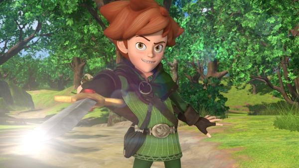 Hält Robin Hood wirklich Excalibur, das legendäre Schwert der Könige, in seiner Hand? | Rechte: ZDF/Method Animation/DQ Entertainment/Fabrique d'images/ZDF Enterprises/De Agostini