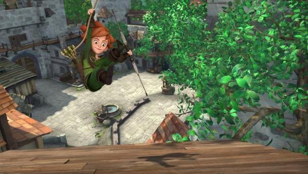 Mutig, kühn und listenreich zeigt sich Robin Hood jedes Mal, beim Kampf um Gerechtigkeit.   Rechte: ZDF/Method Animation/DQ Entertainment/Fabrique d'images/ZDF Enterprises/De Agostini