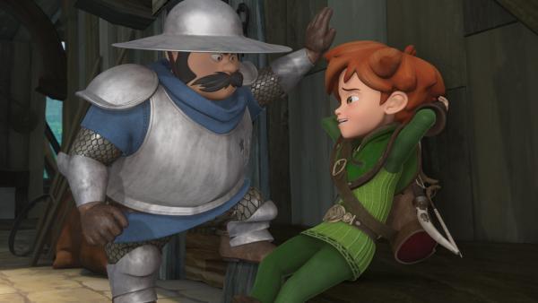 Prinz John hat den Sheriff entlassen. Robin Hood und seine Freunde wollen dafür sorgen, dass er wieder eingesetzt wird.   Rechte: ZDF/Method Animation/DQ Entertainment/Fabrique d'images/ZDF Enterprises/De Agostini