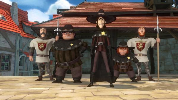 Prinz John hat die drei Diebe zu neuen Sheriffs ernannt.   Rechte: ZDF/Method Animation/DQ Entertainment/Fabrique d'images/ZDF Enterprises/De Agostini