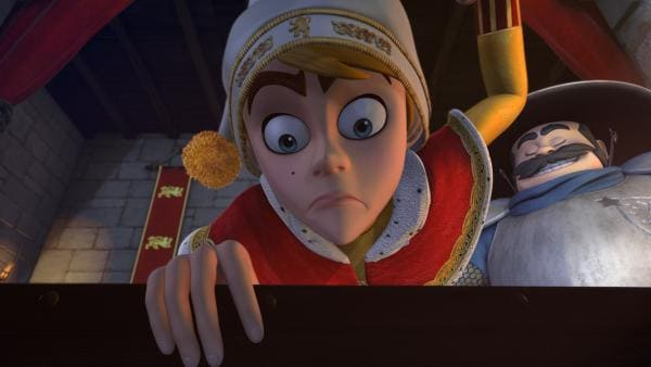 Prinz Johns Schatzkiste wurde schon wieder von Robin Hood geplündert. Er ist so wütend, dass er den Sheriff entlässt.   Rechte: ZDF/Method Animation/DQ Entertainment/Fabrique d'images/ZDF Enterprises/De Agostini