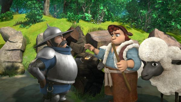 Auf Befehl von Prinz John hat der Sheriff eine Mautstation eingerichtet. Jeder der vorbeigeht muss nun Steuern bezahlen.   Rechte: ZDF/Method Animation/DQ Entertainment/Fabrique d'images/ZDF Enterprises/De Agostini