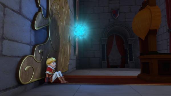 Prinz John hat Angst vor dem Geist, der plötzlich auftaucht.   Rechte: ZDF/Method Animation/DQ Entertainment/Fabrique d'images/ZDF Enterprises/De Agostini
