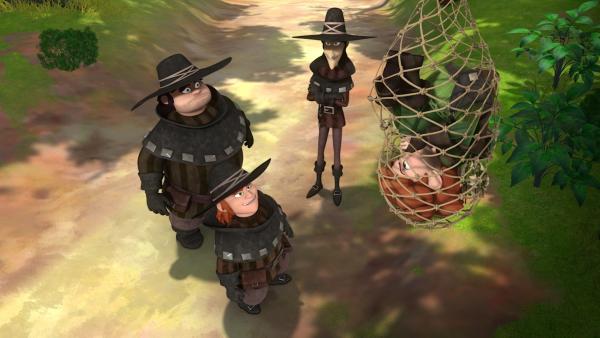 Robin Hood ist den drei Dieben in die Falle gegangen.   Rechte: ZDF/Method Animation/DQ Entertainment/Fabrique d'images/ZDF Enterprises/De Agostini