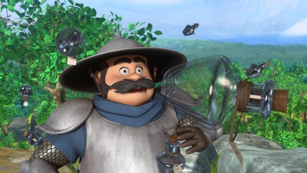 Die Flaschen voll Glück, die den Dorfbewohnern durch einen Trick geklaut wurden, fliegen dem Sheriff um die Ohren.   Rechte: ZDF/Method Animation/DQ Entertainment/Fabrique d'images/ZDF Enterprises/De Agostini