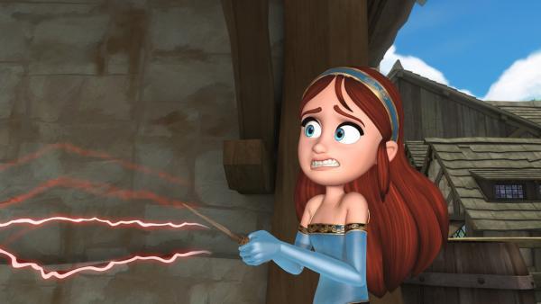 Scarlett zaubert und merkt dabei schon, dass es schief geht. | Rechte: ZDF/Method Animation/DQ Entertainment/Fabrique d'images/ZDF Enterprises/De Agostini