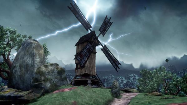 Bei einem heftigen Unwetter wird die Windmühle von Nottingham schwer beschädigt. | Rechte: ZDF/Method Animation/DQ Entertainment/Fabrique d'images/ZDF Enterprises/De Agostini