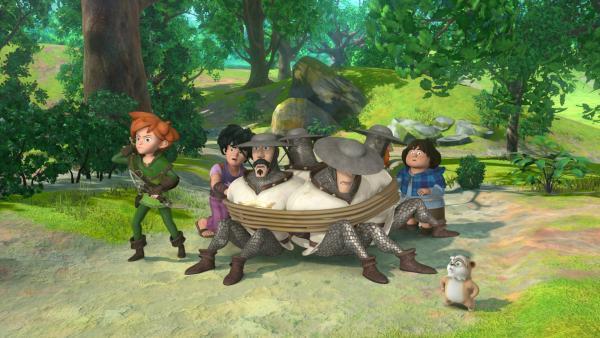 Robin und seine Gefährten haben die Wachen überwältigt. | Rechte: ZDF/Method Animation/DQ Entertainment/Fabrique d'images/ZDF Enterprises/De Agostini