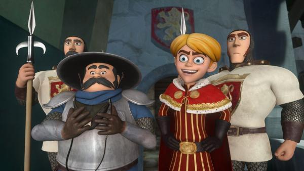 Prinz John mit seinem Sheriff und den Wachen. | Rechte: ZDF/Method Animation/DQ Entertainment/Fabrique d'images/ZDF Enterprises/De Agostini