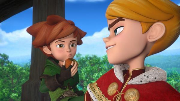 Robin Hood setzt sich mutig für Gerechtigkeit ein. Mit Prinz John gerät er von Anfang an aneinander. | Rechte: ZDF/Method Animation/DQ Entertainment/Fabrique d'images/ZDF Enterprises/De Agostini