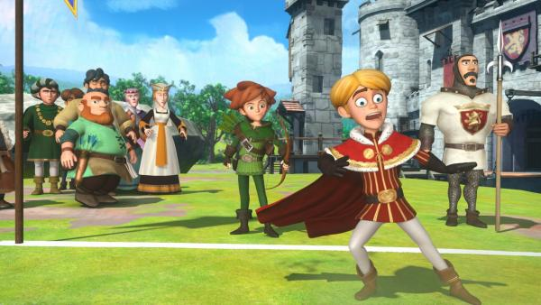 Prinz John kann es nicht fassen. Robin Hood qualifiziert sich für das Finale zum Bogenschützen-Turnier. | Rechte: ZDF/Method Animation/DQ Entertainment/Fabrique d'images/ZDF Enterprises/De Agostini