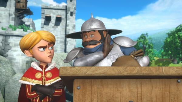 Prinz John heckt mit dem Sheriff einen Plan aus. | Rechte: ZDF/Method Animation/DQ Entertainment/Fabrique d'images/ZDF Enterprises/De Agostini