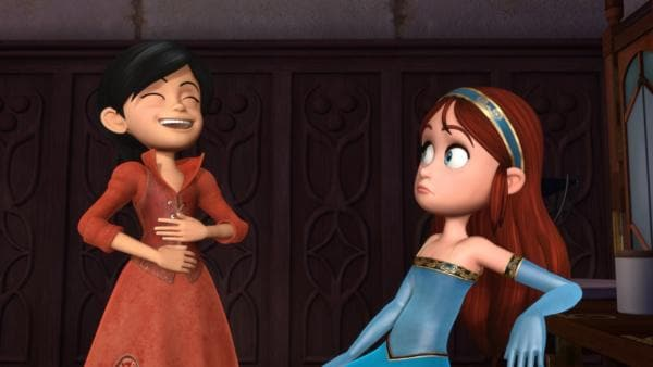 Scarlett, die neu ins Schloss kommt, freundet sich schnell mit Marian an. | Rechte: ZDF/Method Animation/DQ Entertainment/Fabrique d'images/ZDF Enterprises/De Agostini