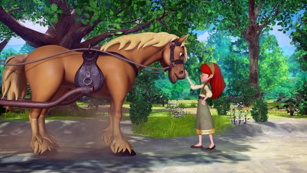 Eleanor ist auf der Suche nach dem stärksten und berühmtesten Abenteurer in Sherwood: Robin Hood. | Rechte: ZDF/Method Animation/DQ Entertainment/Fabrique d'images/ZDF Enterprises/De Agostini