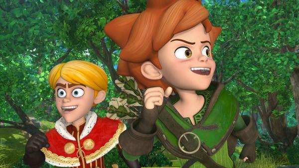 Prinz John nimmt Unterricht bei Robin Hood. Er soll ihn zum größten Abenteurer der Welt machen. | Rechte: ZDF/Method Animation/DQ Entertainment/Fabrique d'images/ZDF Enterprises/De Agostini