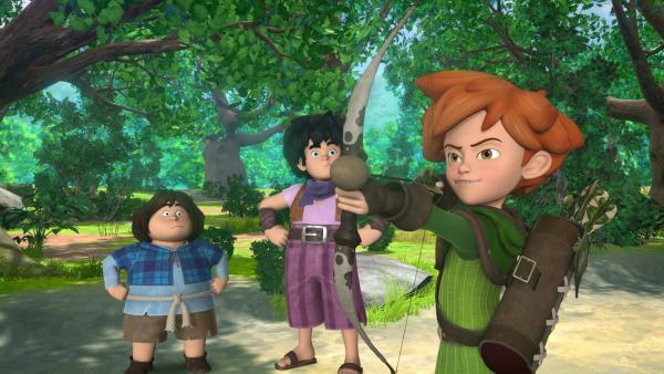 Tuck und Little John sind immer an Robins Seite. | Rechte: ZDF/Method Animation/DQ Entertainment/Fabrique d'images/ZDF Enterprises/De Agostini