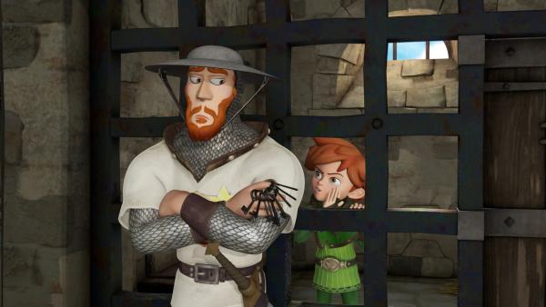 Robin Hood will mit dem Soldaten Walter einen Deal ausmachen. | Rechte: ZDF/Method Animation/DQ Entertainment/Fabrique d'images/ZDF Enterprises/De Agostini