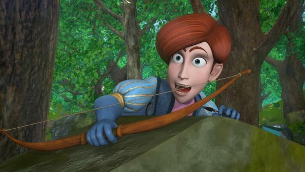 Clarence möchte auch gerne ein Held werden. So wie sein Vorbild, Robin Hood. | Rechte: ZDF/Method Animation/DQ Entertainment/Fabrique d'images/ZDF Enterprises/De Agostini