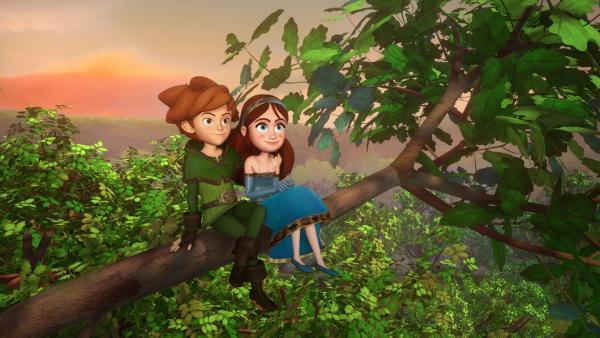 Robin Hood und Marian verbindet mehr als nur Freundschaft. | Rechte: ZDF/Method Animation/DQ Entertainment/Fabrique d'images/ZDF Enterprises/De Agostini