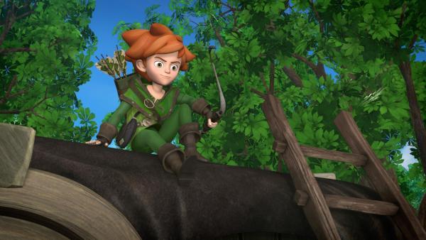 Robin Hood auf seinem Beobachtungsposten. | Rechte: ZDF/Method Animation/DQ Entertainment/Fabrique d'images/ZDF Enterprises/De Agostini