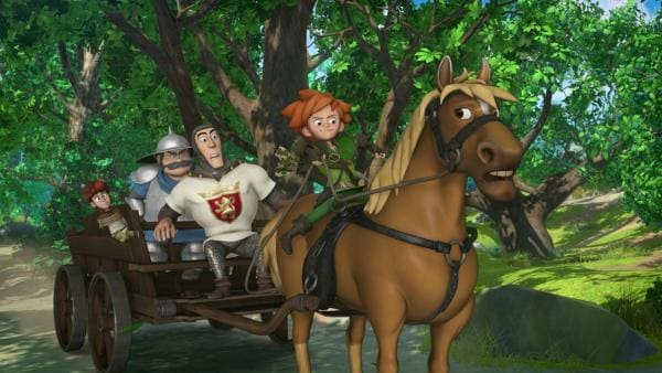 Der Sheriff hat Lubin gefangen genommen. Robin Hood glaubt an dessen Unschuld und befreit ihn. | Rechte: ZDF/Method Animation/DQ Entertainment/Fabrique d'images/ZDF Enterprises/De Agostini