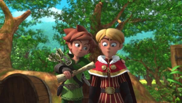 Prinz John (re.) hat sein Gedächtnis verloren und will neuer Rekrut in Robins Bande werden. | Rechte: ZDF/Method Animation/DQ Entertainment