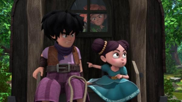 Die kleine Isabelle (re.) will bei Robin (Mi.) und seiner Bande bleiben. | Rechte: ZDF/Method Animation/DQ Entertainment