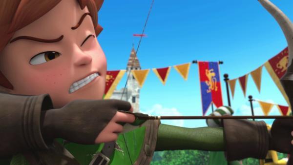 Robin steht Richard an dessen Geburtstag bei. | Rechte: ZDF/Method Animation/DQ Entertainment