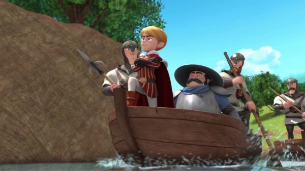 Prinz John  (2.von links) und sein Gefolge auf dem Weg zu einer neuen Geldquelle.  | Rechte: © ZDF/Method Animation/DQ Entertainment