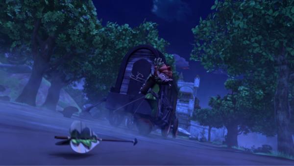 Eine seltsame Geisterkutsche macht Nottingham unsicher.    Rechte: © ZDF/Method Animation/DQ Entertainment