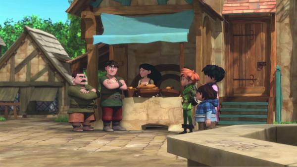 Die Dorfbewohner sind wegen einer Diebstahlserie beunruhigt.  | Rechte: © ZDF/Method Animation/DQ Entertainment