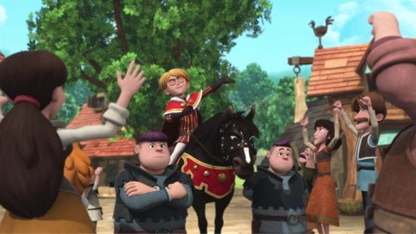 Prinz John lässt sich feiern.  | Rechte: © ZDF/Method Animation/DQ Entertainment