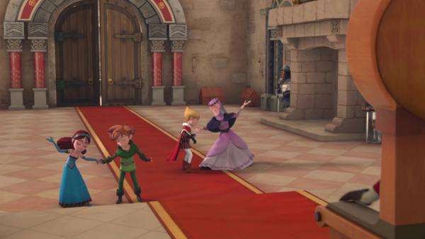 Tanzstunde in Schloss Nottingham.    Rechte: © ZDF/Method Animation/DQ Entertainment