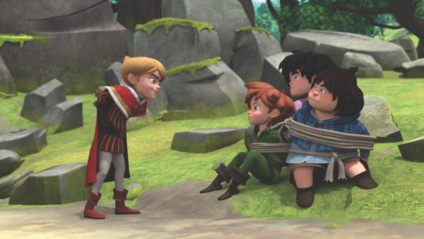 Prinz John glaubt nicht an den Geist des Dolmens. | Rechte: ZDF/Method Animation/DQ Entertainment/De Agostini