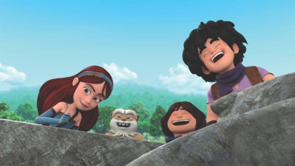 Marian, Hamster Derke, Tuck und Little John sind sich einig: m Sherwood Forest ist immer etwas los und die Freunde haben dabei viel zu lachen.  | Rechte: ZDF/Method Animation/DQ Entertainment