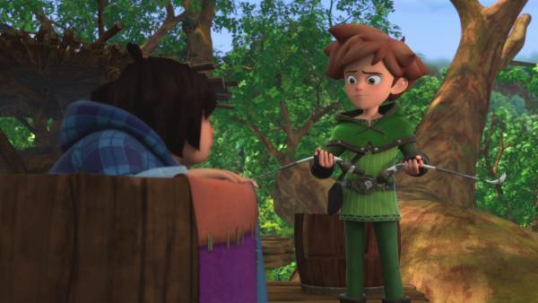 Alles fängt damit an, dass Robins Bogen zerbricht. | Rechte: ZDF/Method Animation/DQ Entertainment