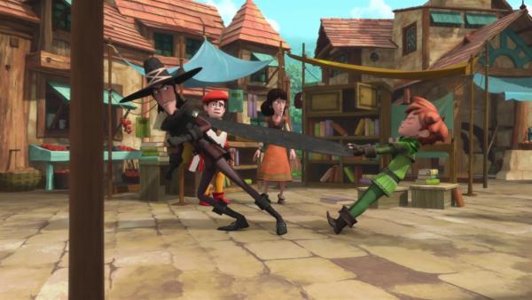 Robin versucht die Ereignisse dieses unglücklichen Tages rückgängig zu machen.  | Rechte: ZDF/Method Animation/DQ Entertainment