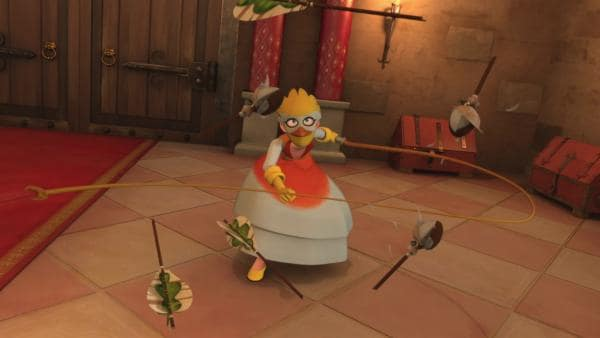 Lady Vogelfrei kämpft gegen Robins Pfeile.  | Rechte: ZDF/Method Animation/DQ Entertainment