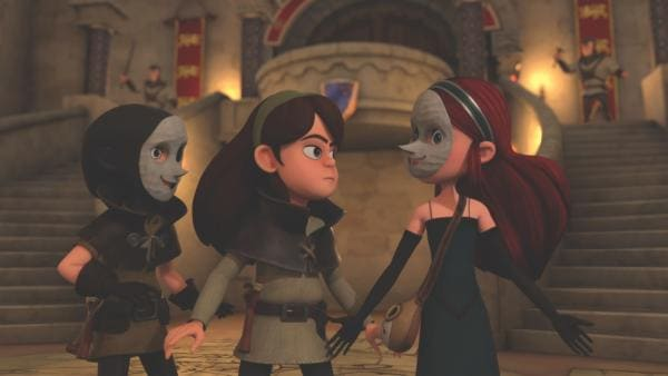 Marian lernt zwei unbekannte Kämpferinnen kennen.  | Rechte: ZDF/Method Animation/DQ Entertainment