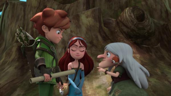 Robin bekommt die einzige Karte vom Sherwood Forest.  | Rechte: ZDF/Method Animation/DQ Entertainment