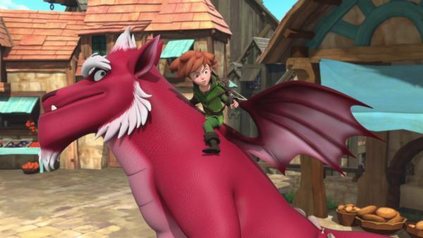 Robin macht sich mit Derke auf den Weg zu den Drachen.  | Rechte: © ZDF/Method Animation/DQ Entertainment