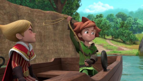 Robin macht einen Ausflug mit Prinz John.    Rechte: © ZDF/Method Animation/DQ Entertainment