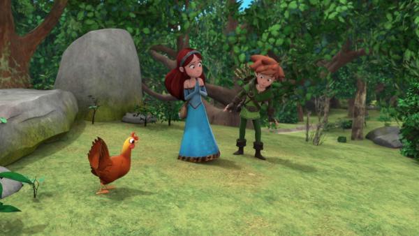 Marian hat offenbar Richard in ein Huhn verwandelt.    Rechte: © ZDF/Method Animation/DQ Entertainment