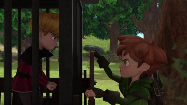Robin befreit den armen Ronald aus seinem Käfig.  | Rechte: © ZDF/Method Animation/DQ Entertainment