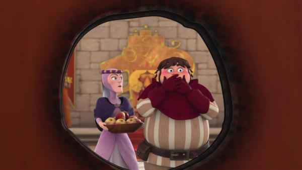 Beim Niesen ist dem feurigen Sir Kerde (r.) ein Missgeschick passiert.  | Rechte: © ZDF/Method Animation/DQ Entertainment