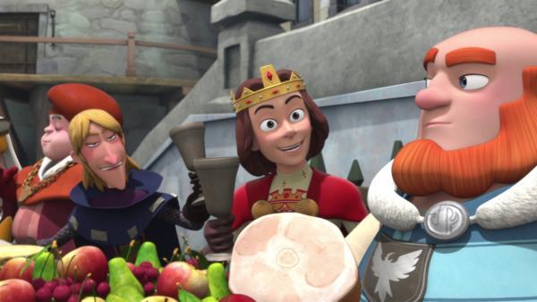 Zu Ehren des wahren Königs gibt es ein großes Bankett.  | Rechte: © ZDF/Method Animation/DQ Entertainment