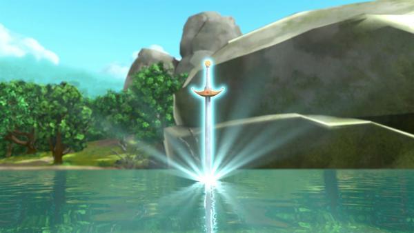 Excalibur, das Schwert der Schwerter, war im See verschollen.   Rechte: © ZDF/Method Animation/DQ Entertainment