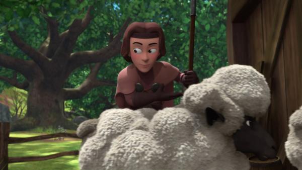 Dem guten König Richard gefällt das Leben bei den Schafen ganz gut.    Rechte: © ZDF/Method Animation/DQ Entertainment